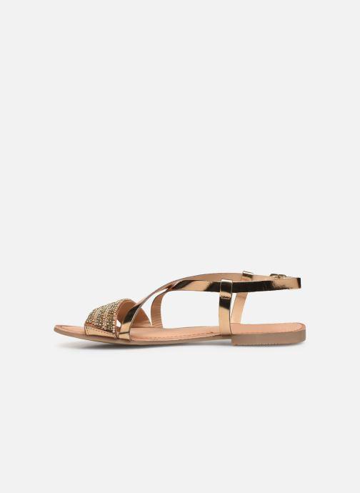 Sandales et nu-pieds Gioseppo 45278 Or et bronze vue face