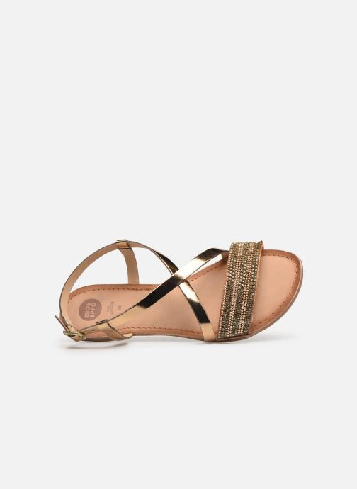 Sandals Gioseppo 45278 Bronze and Gold view from the left