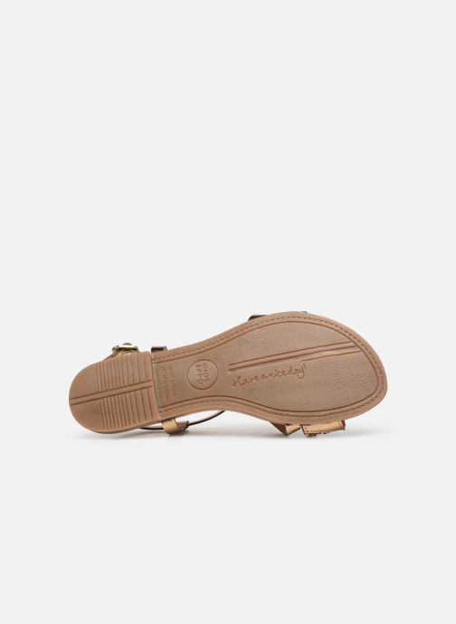 Sandales et nu-pieds Gioseppo 45278 Or et bronze vue haut