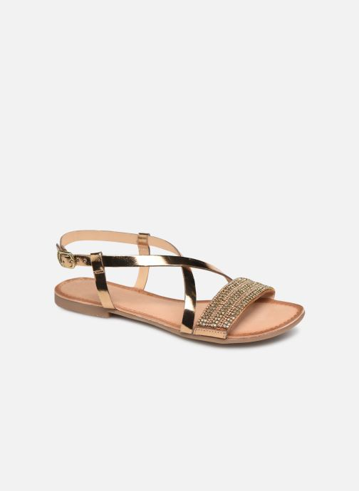 Sandals Gioseppo 45278 Bronze and Gold detailed view/ Pair view