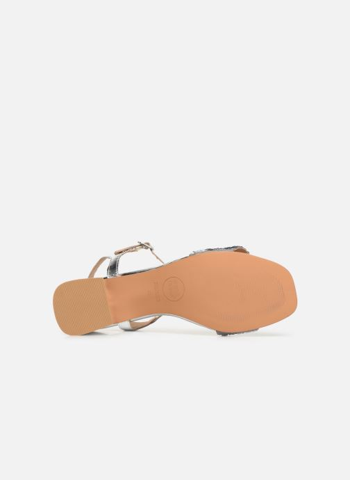 Sandals Gioseppo 45283 Silver view from above