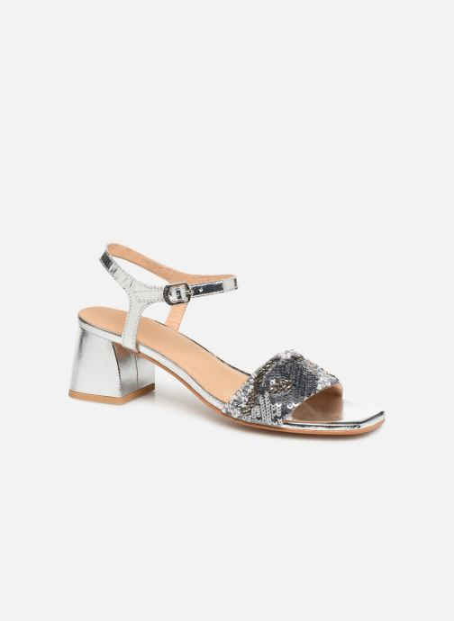 Sandals Gioseppo 45283 Silver detailed view/ Pair view