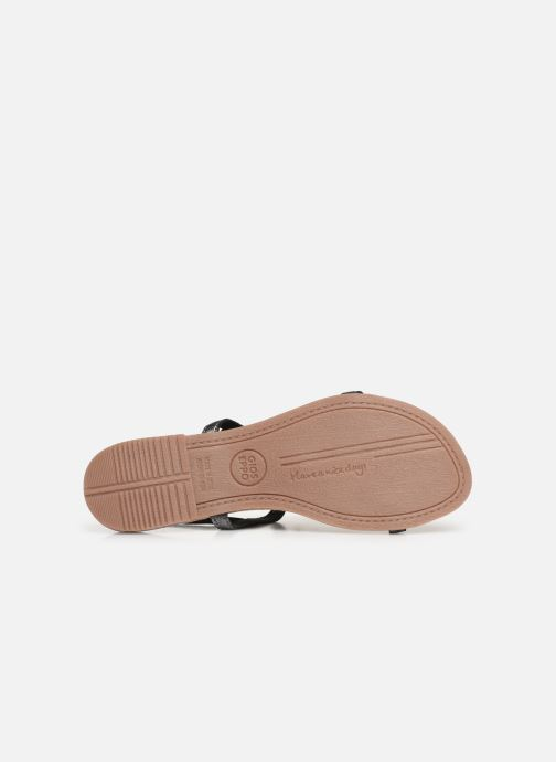 Sandals Gioseppo 45308 Silver view from above