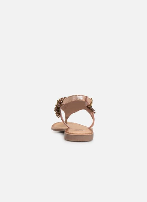 Sandals Gioseppo 45309 Bronze and Gold view from the right