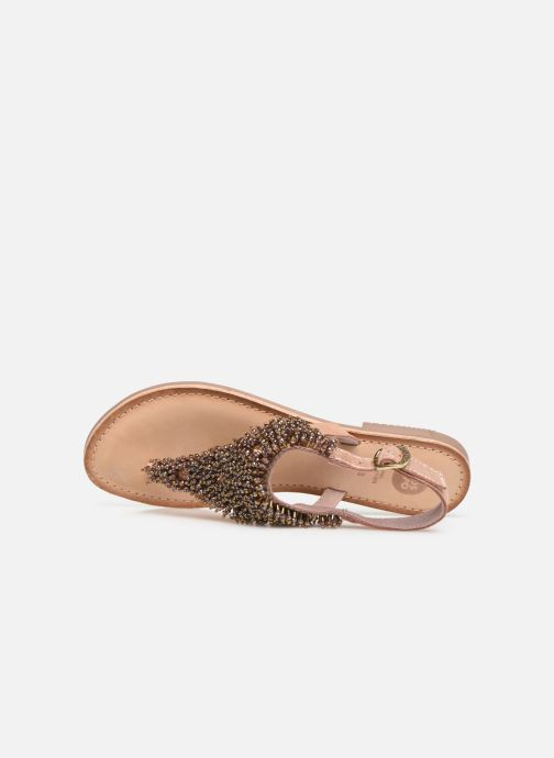 Sandals Gioseppo 45309 Bronze and Gold view from the left