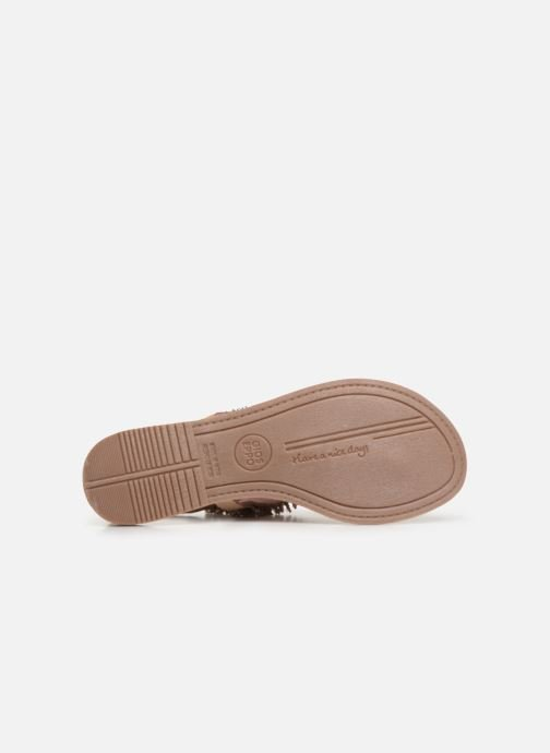 Sandals Gioseppo 45309 Bronze and Gold view from above