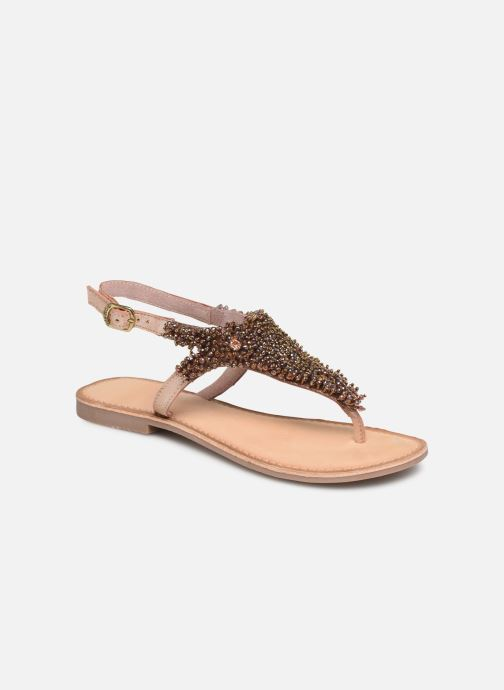 Sandals Gioseppo 45309 Bronze and Gold detailed view/ Pair view