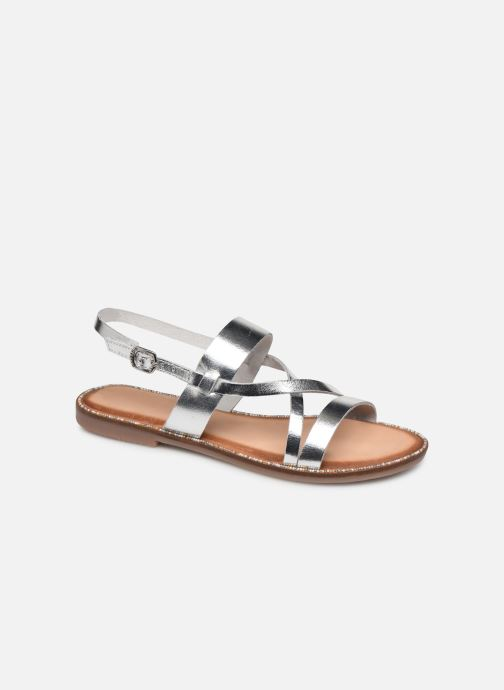 Sandals Gioseppo 45382 Silver detailed view/ Pair view