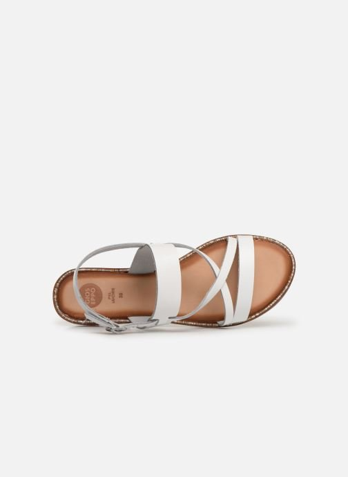 Sandals Gioseppo 45382 White view from the left