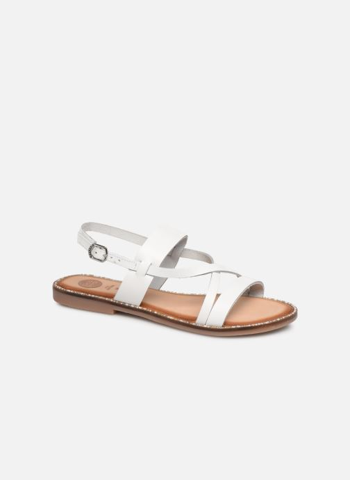 Sandals Gioseppo 45382 White detailed view/ Pair view