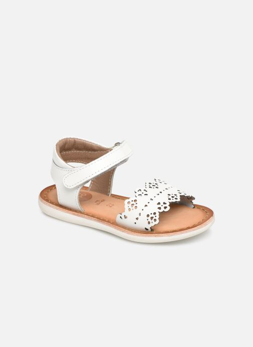 Sandals Gioseppo Bari White detailed view/ Pair view