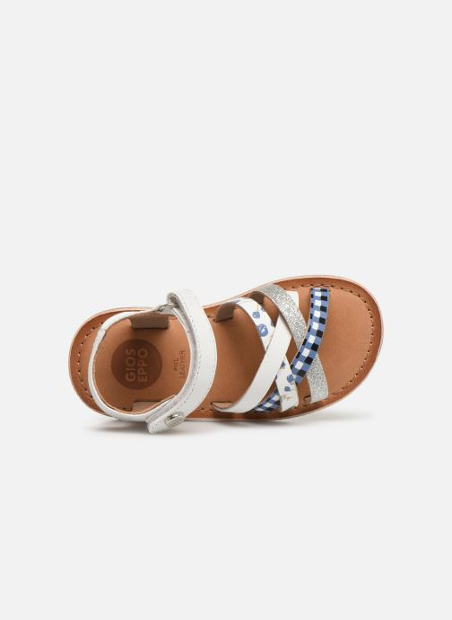 Sandals Gioseppo Roven White view from the left