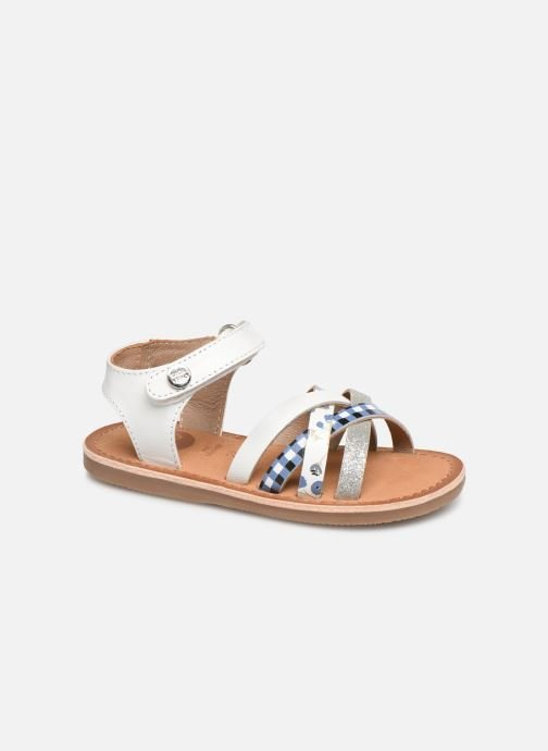 Sandals Gioseppo Roven White detailed view/ Pair view