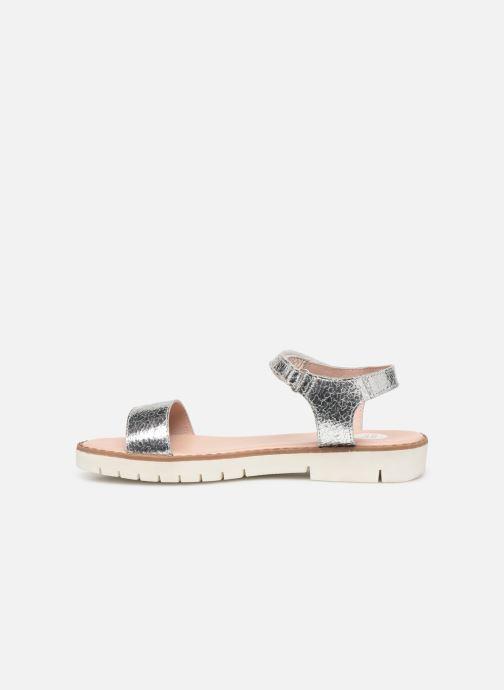 Sandales et nu-pieds Gioseppo Massa Argent vue face