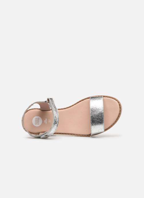 Sandals Gioseppo Massa Silver view from the left