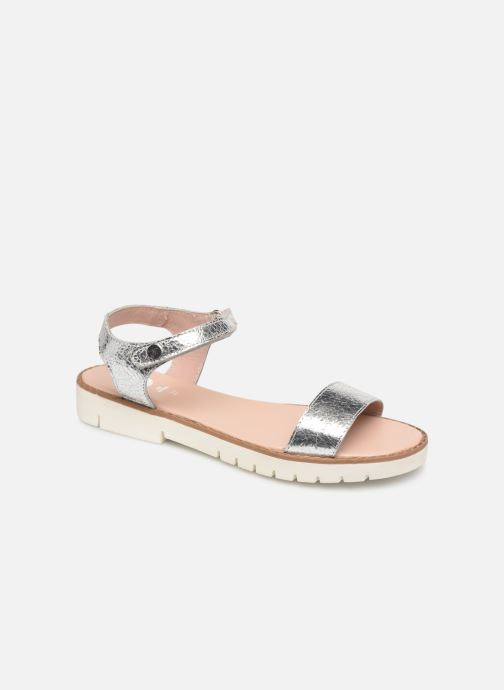 Sandals Gioseppo Massa Silver detailed view/ Pair view
