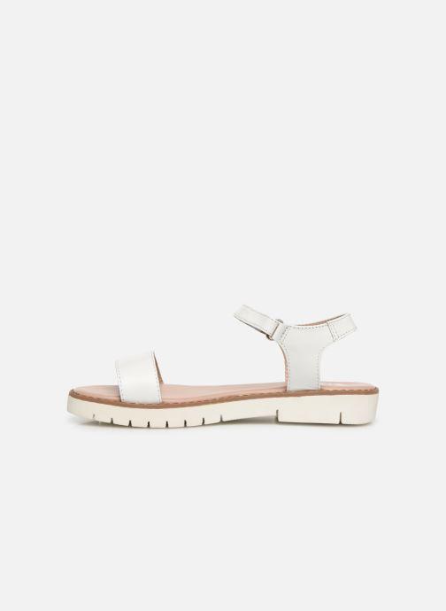 Sandales et nu-pieds Gioseppo Massa Blanc vue face