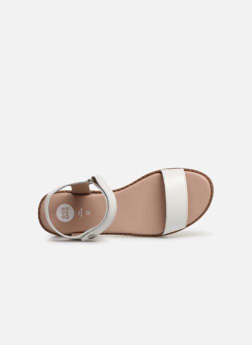 Sandales et nu-pieds Gioseppo Massa Blanc vue gauche