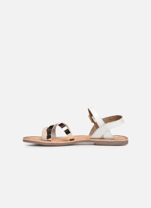 Sandalen Gioseppo Foligno weiß ansicht von vorne