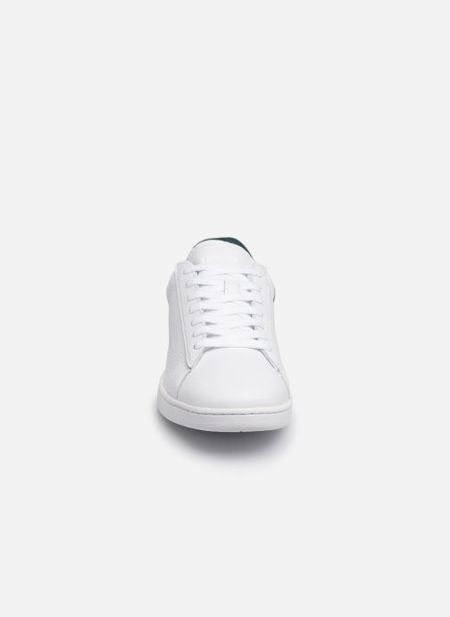 Baskets Lacoste Carnaby Evo 419 2 SFA Blanc vue portées chaussures