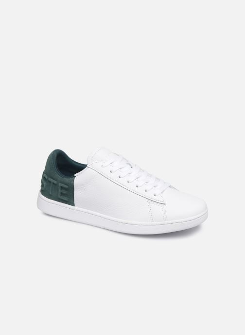 Baskets Lacoste Carnaby Evo 419 2 SFA Blanc vue détail/paire