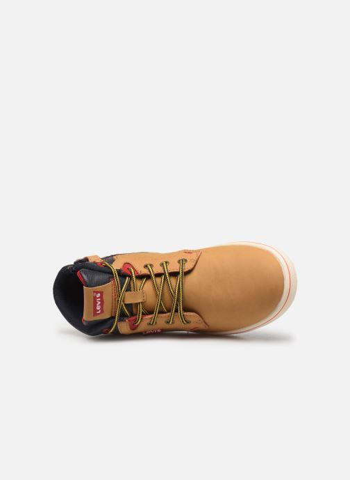 Sneaker Levi's New Portland braun ansicht von links