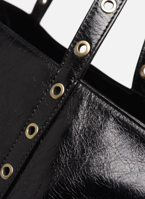 Bolsos de mano Vanessa Bruno CABAS FROISSE Negro vista lateral izquierda