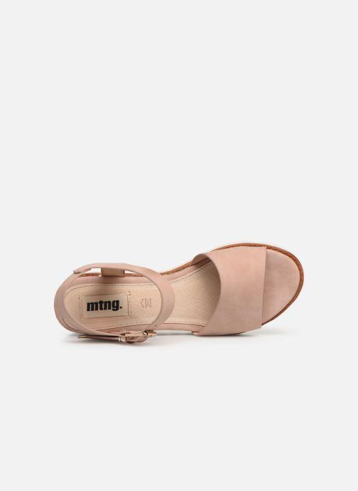 Sandales et nu-pieds MTNG 50054 Vaque Beige vue gauche