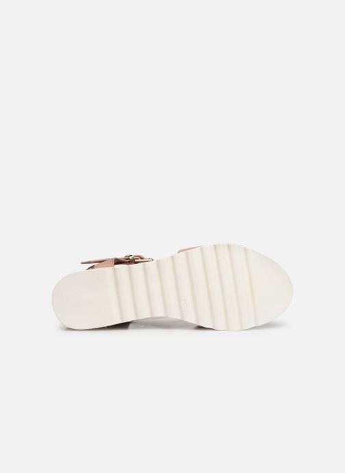Sandales et nu-pieds MTNG 50054 Vaque Beige vue haut
