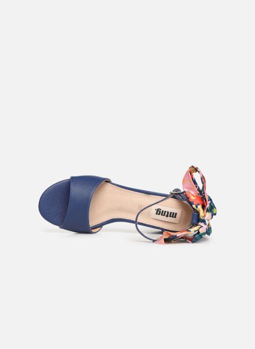 Sandales et nu-pieds MTNG 50418 Bleu vue gauche