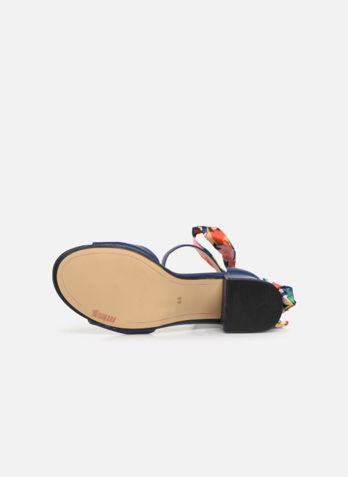 Sandales et nu-pieds MTNG 50418 Bleu vue haut