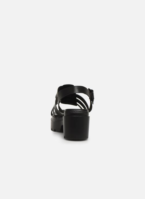 Sandales et nu-pieds MTNG 50696 Noir vue droite
