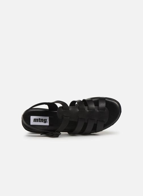 Sandales et nu-pieds MTNG 50696 Noir vue gauche