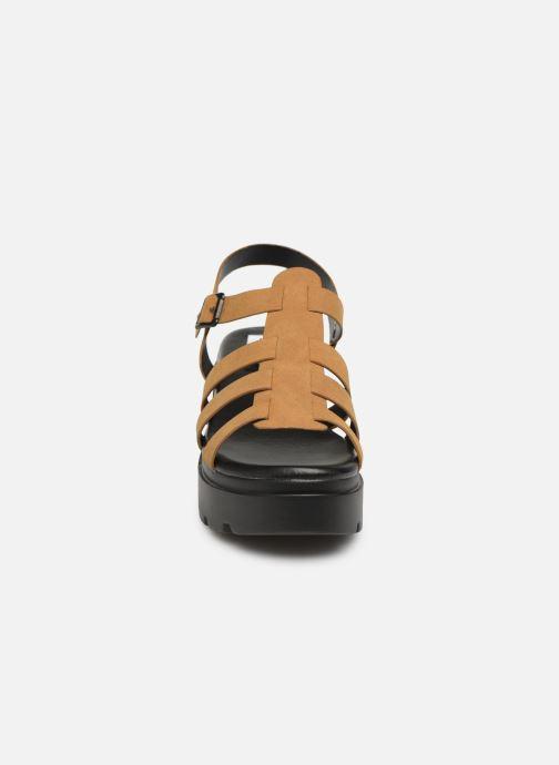 Sandales et nu-pieds MTNG 50696 Marron vue portées chaussures