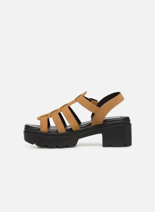 Sandales et nu-pieds MTNG 50696 Marron vue face
