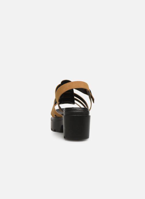 Sandales et nu-pieds MTNG 50696 Marron vue droite