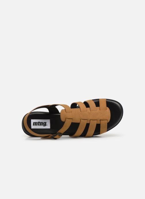 Sandales et nu-pieds MTNG 50696 Marron vue gauche