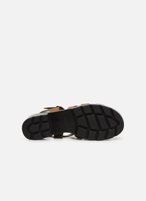 Sandales et nu-pieds MTNG 50696 Marron vue haut
