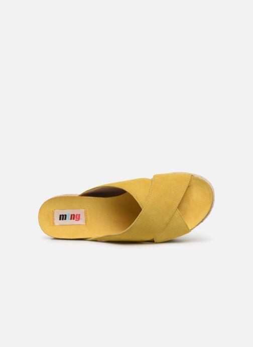 Zuecos MTNG 51092 Amarillo vista lateral izquierda