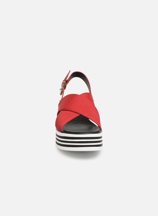 Sandales et nu-pieds MTNG 57820 Rouge vue portées chaussures