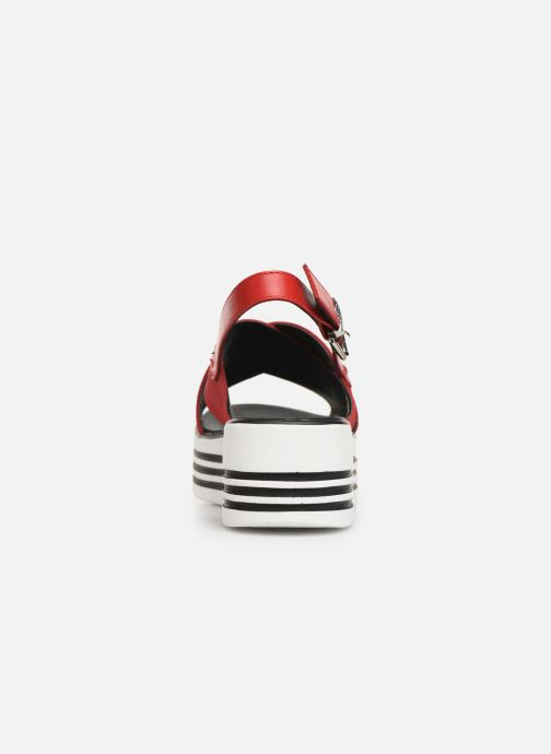 Sandales et nu-pieds MTNG 57820 Rouge vue droite