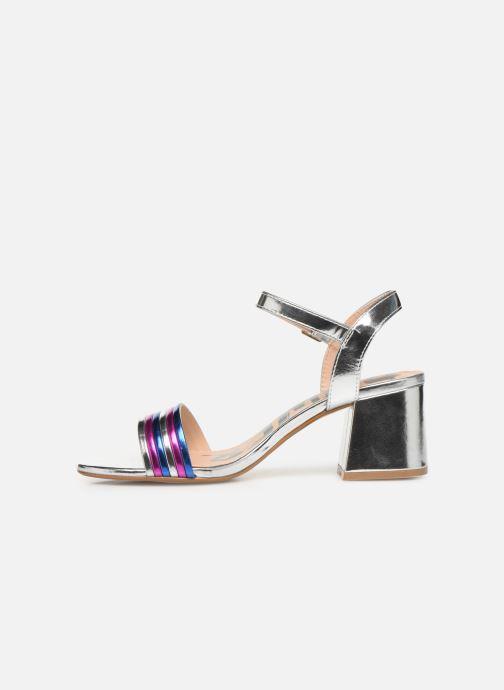 Sandales et nu-pieds MTNG 57825 Argent vue face