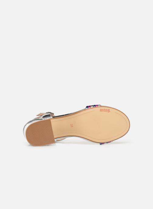 Sandales et nu-pieds MTNG 57825 Argent vue haut