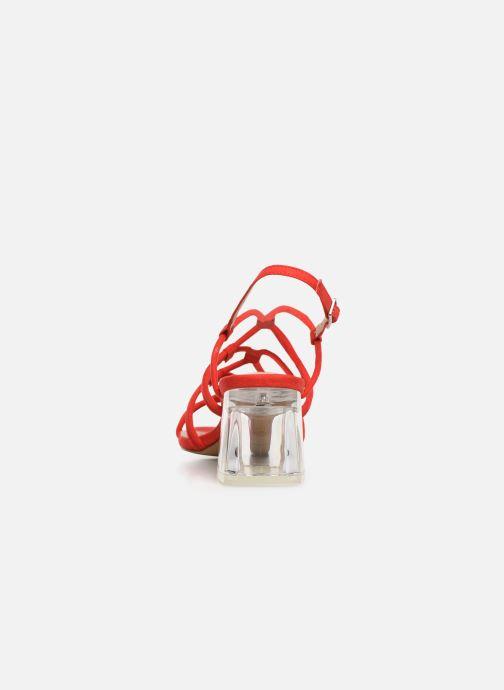 Sandales et nu-pieds MTNG 57941 Rouge vue droite