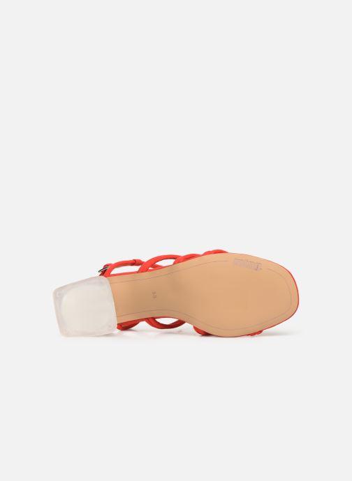 Sandales et nu-pieds MTNG 57941 Rouge vue haut