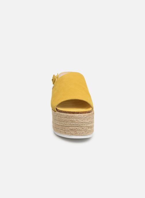 Espadrilles MTNG 58202 Jaune vue portées chaussures