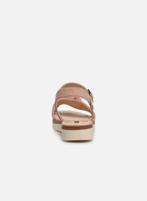 Sandales et nu-pieds MTNG 58693 Beige vue droite