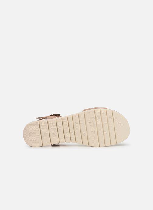 Sandales et nu-pieds MTNG 58693 Beige vue haut