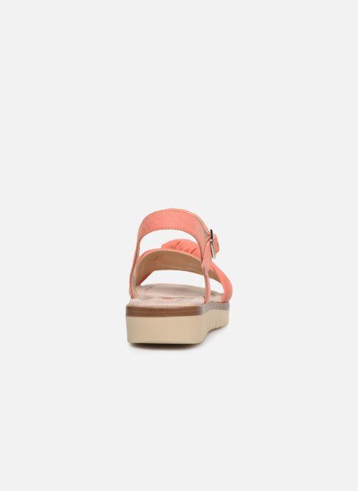 Sandales et nu-pieds MTNG 58693 Orange vue droite