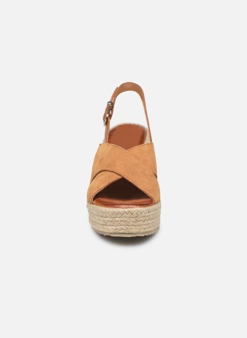 Espadrilles MTNG 58873 Marron vue portées chaussures